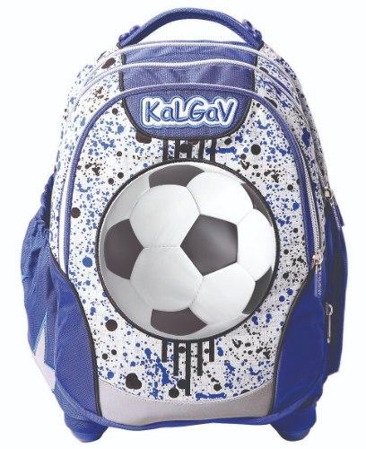 תיק כחול/אפור Schoolbag Soccer