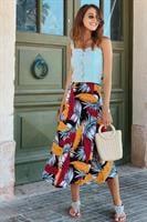 חצאית מעטפת עלים מלדיביים