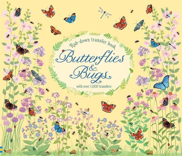 ספר יצירה עם מדבקות גירוד - פרפרים וחרקים