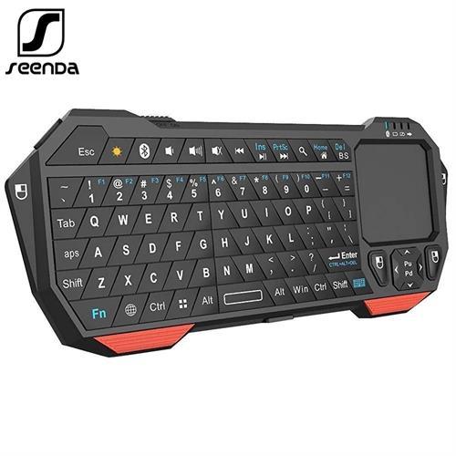 מקלדת Bluetooth אלחוטית עם משטח עכבר Touch לשימוש במסכי טלויזיה סמארט ומקרנים