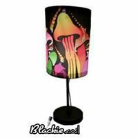 """מנורת שולחן הדפס גראפי """"פיטריות"""""""