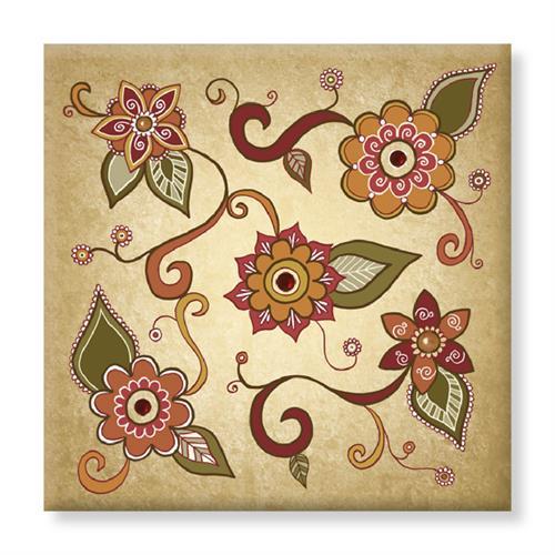 קנבס - פרחים - דוגמא