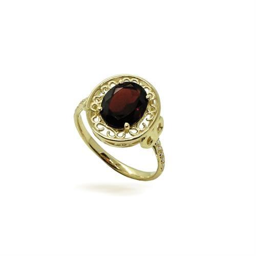 טבעת זהב וינטאג' אבן חן ויהלומים
