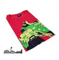 """חולצה אדומה לקיץ הדפס גראפי """"דריכה""""👣"""