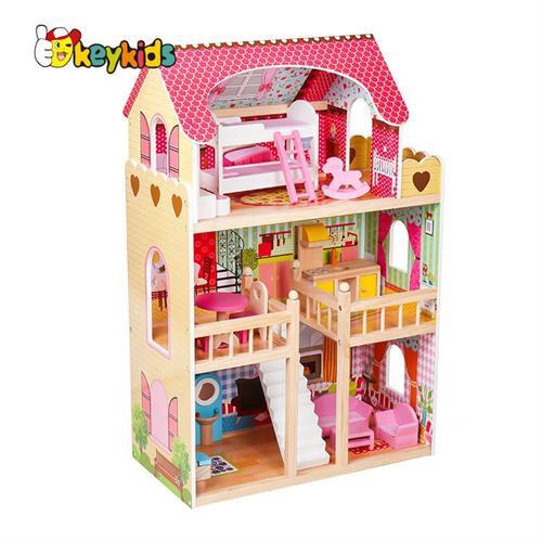 בית בובות מעץ דגם W06A163C