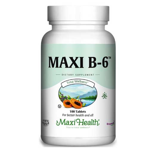 -- ויטמין B6 -- מכיל 100 טבליות, Maxi Health