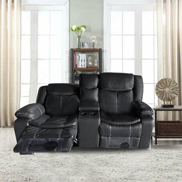 ספה 2 מושבים ג'ק מרלו (עור שחור)