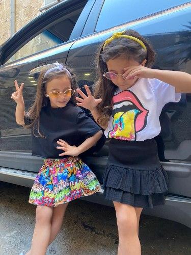 חולצת בייסיק קרופ MISS KIDS שחורה - 2-18