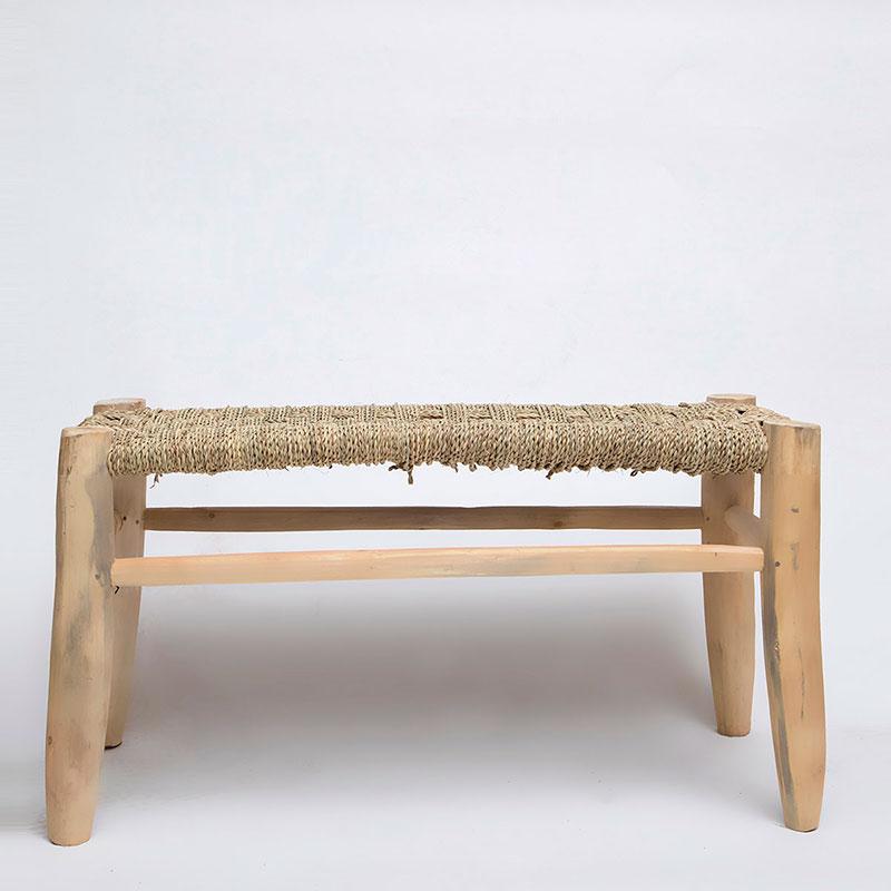 """ספסל עץ וחבל 80 ס""""מ"""