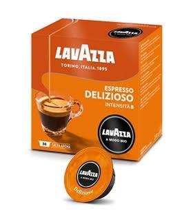 36 קפסולות קפה  LAVAZZA A MODO MIO מקורי , תערובת Delizioso  -כתום