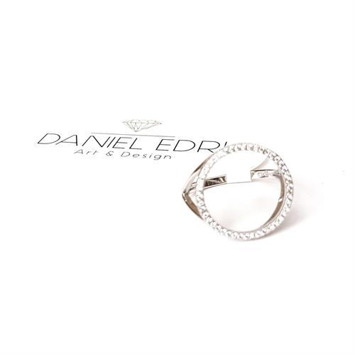 טבעת עיגול חלול - כסף