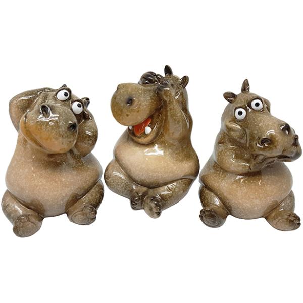 """פסל """"שלושה היפופוטמים"""""""