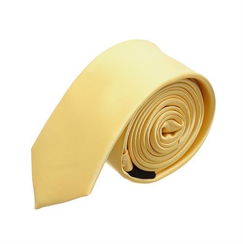 עניבה חלקה צהוב בננה