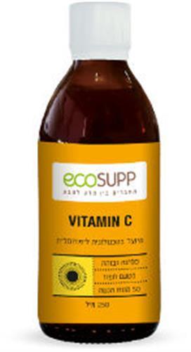 אקוסאפ ויטמין C בטכנולוגיה ליפוומלית ספיגה גבוהה 250 מל