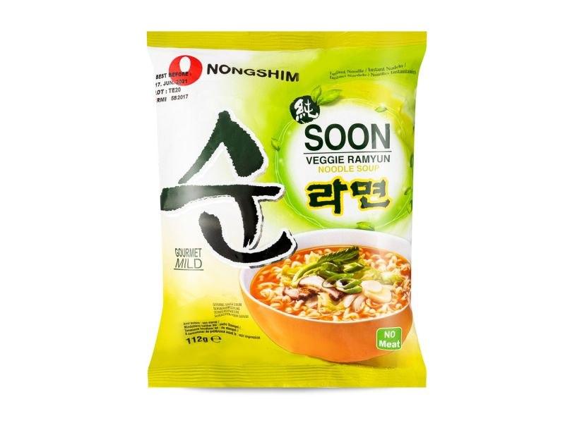 nong shin soon veggie ramyun מרק אטריות צמחוני