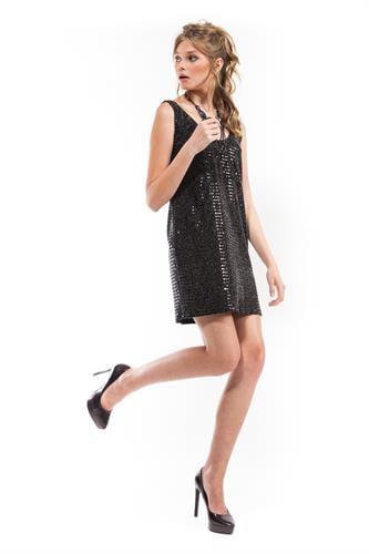שמלת טינה כסף פייטים