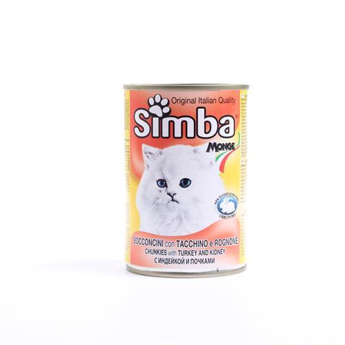 שימורי סימבה הודו וכליות לחתול 415 גרם