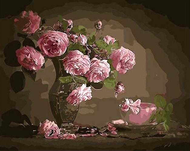 צביעה לפי מספרים - ורדים