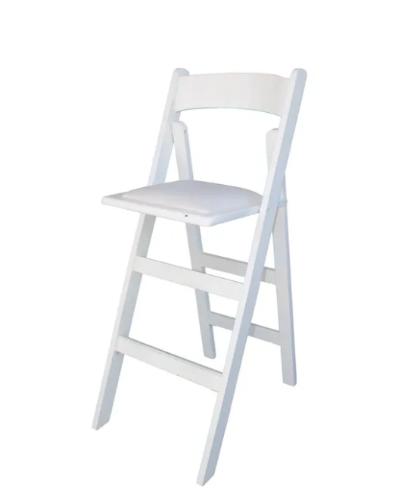 כסא בר עץ לבן