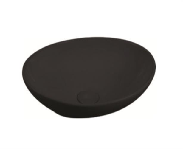 כיור חרס מונח שחור מט 550205XMB