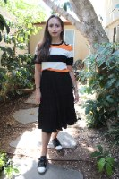 חצאית קלוש שחורה