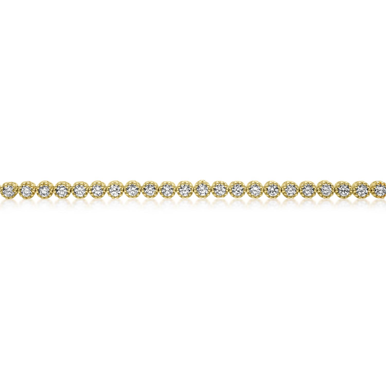 צמיד טניס זהב צהוב 14K בשיבוץ אבני זרקון עגולות