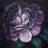 תמונות על קנבס פרח סגול