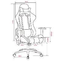 כיסא גיימינג דגם מארס - Mars אורטופדי, ידיות מתכווננות, משענת מתכוונת עד 180 מעלות בצבעים שחור ואדום