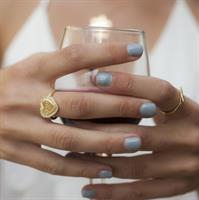 טבעת חותם חריטה בשחור