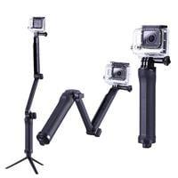 מוט סלפי עם חצובה 3Way למצלמות אקסטרים GoPro