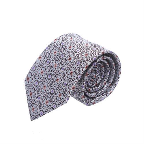 עניבה אפור פרחים קטנים