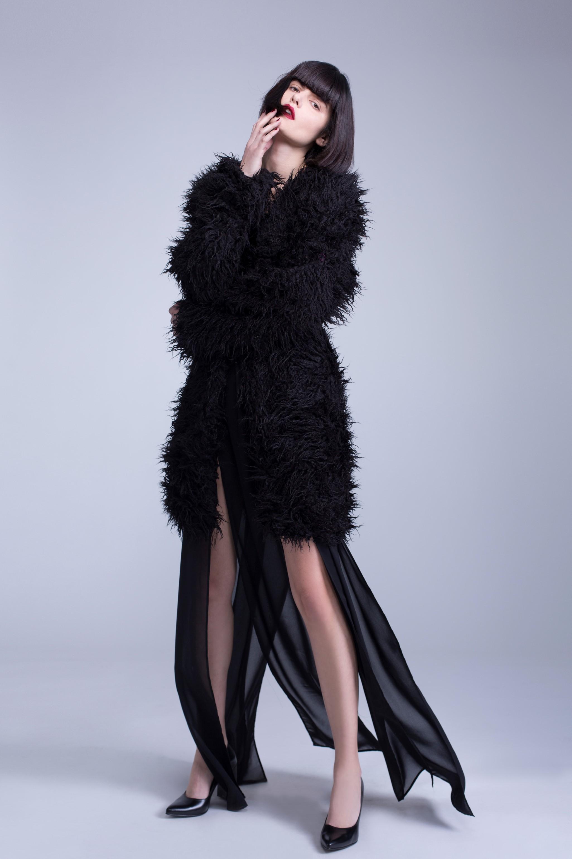 מעיל ראן ויי שחור