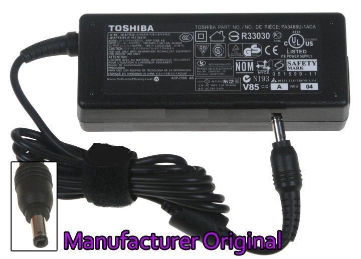 מטען מקורי למחשב נייד טושיבה Toshiba Satellite C660 19v, 3.95a, 75 watt