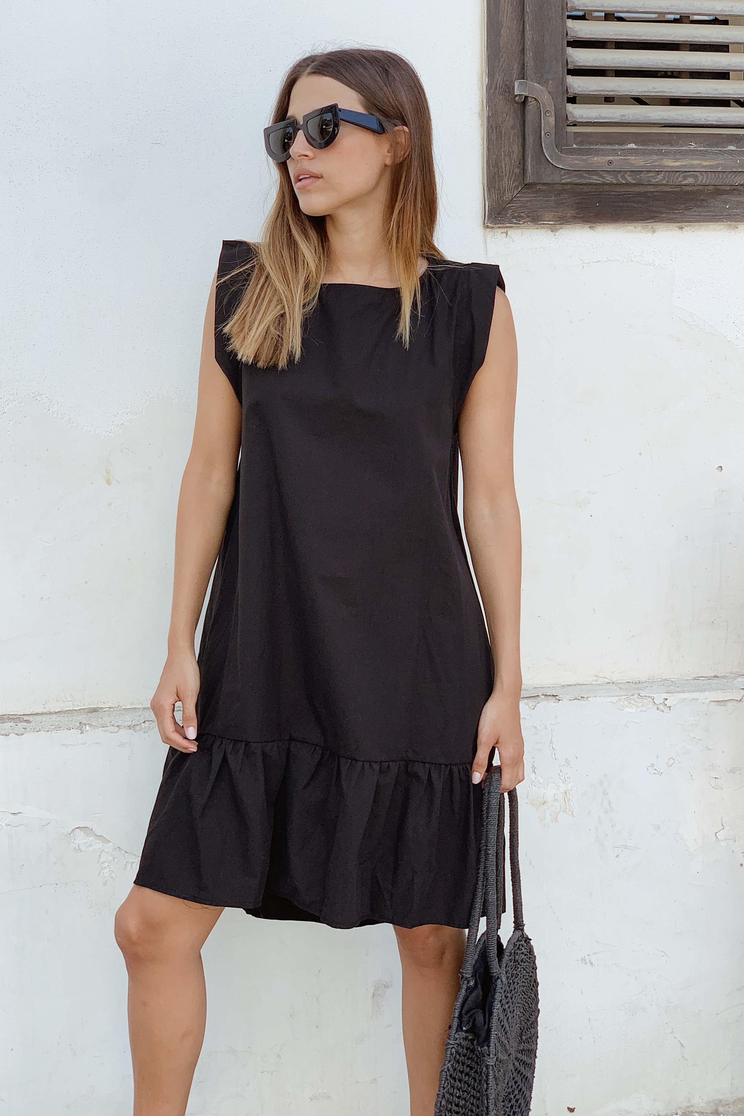 שמלת אודרי אוברסייז שחורה