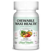 -- מולטי ויטמין ללעיסה-לילדים -- Maxi Health, מכיל 90 טבליות ללעיסה