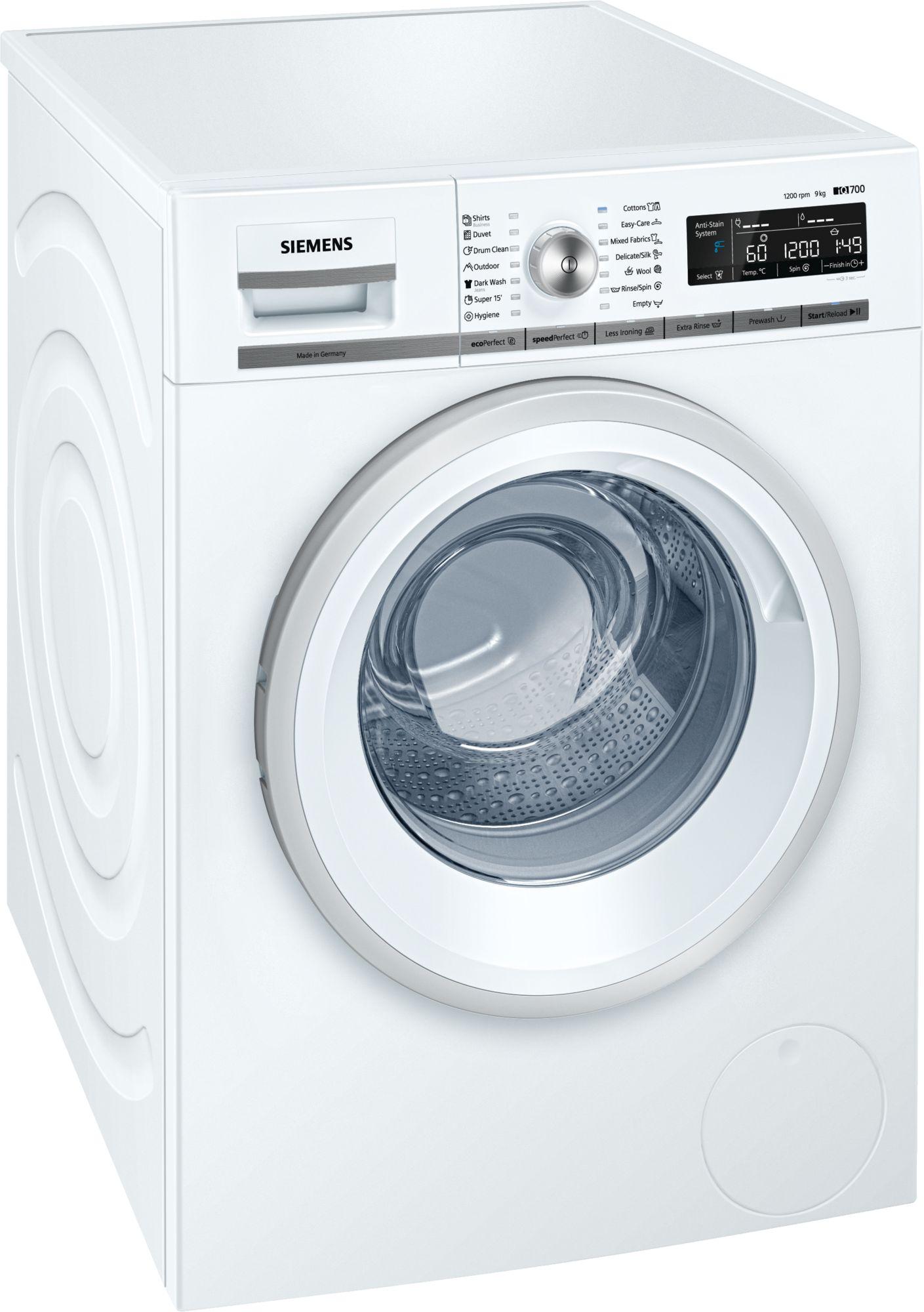 """מכונת כביסה פתח קידמי Siemens WM14T680IL 9 ק""""ג סימנס"""