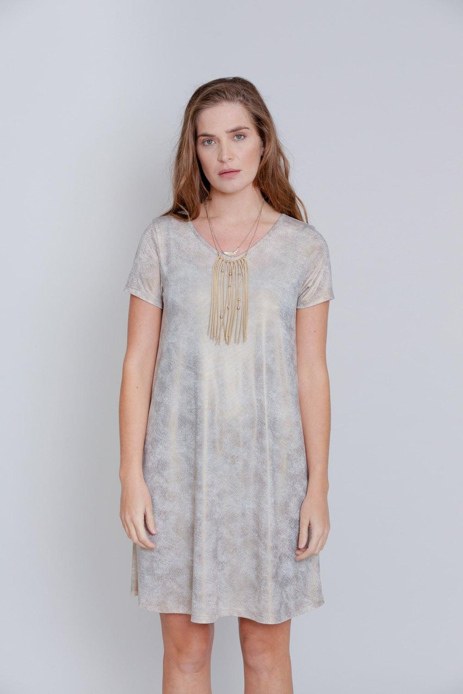 שמלת מונקו שרוול קצר