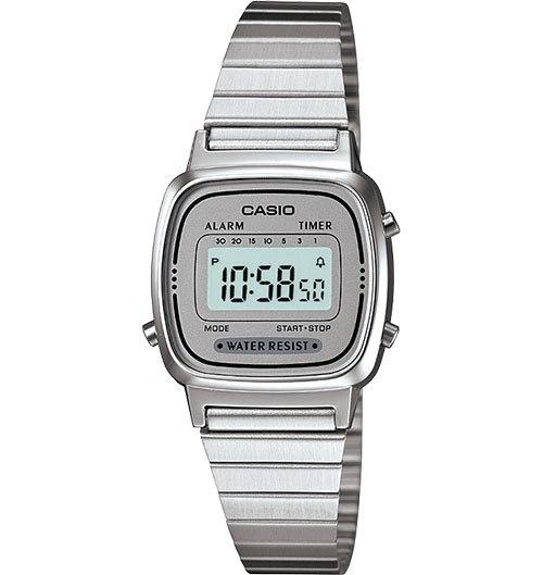 שעון קסיו לחיילות כסף - LA - 670