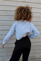 חולצת לירוי כחולה