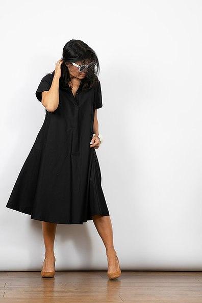 שמלת מארי שחורה