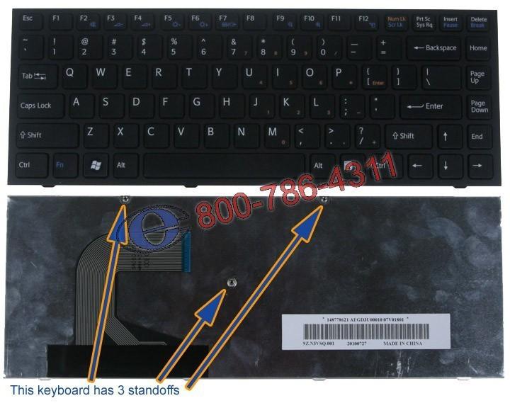 מקלדת למחשב נייד סוני Sony Vpc-S Silver Frame White Nsk-Sa5sq 01 9Z.N3vsq.501 Aegd3u00020 148778121 Keyboard