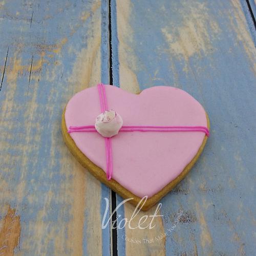 עוגית לב מתנה