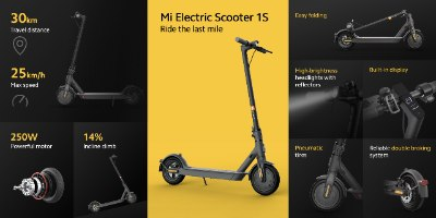 קורקינט חשמלי Xiaomi Mi Electric Scooter1S שיאומי