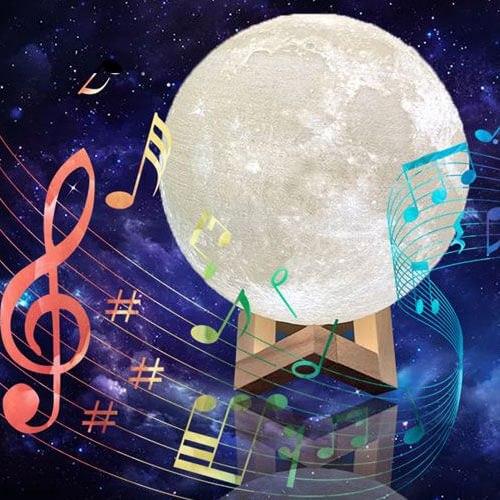 מנורת לילה ירח עם רמקול בלטוס