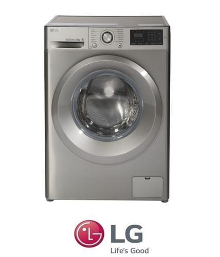 "LG מכונת כביסה 8 ק""ג כסוף דגם F0812WS"