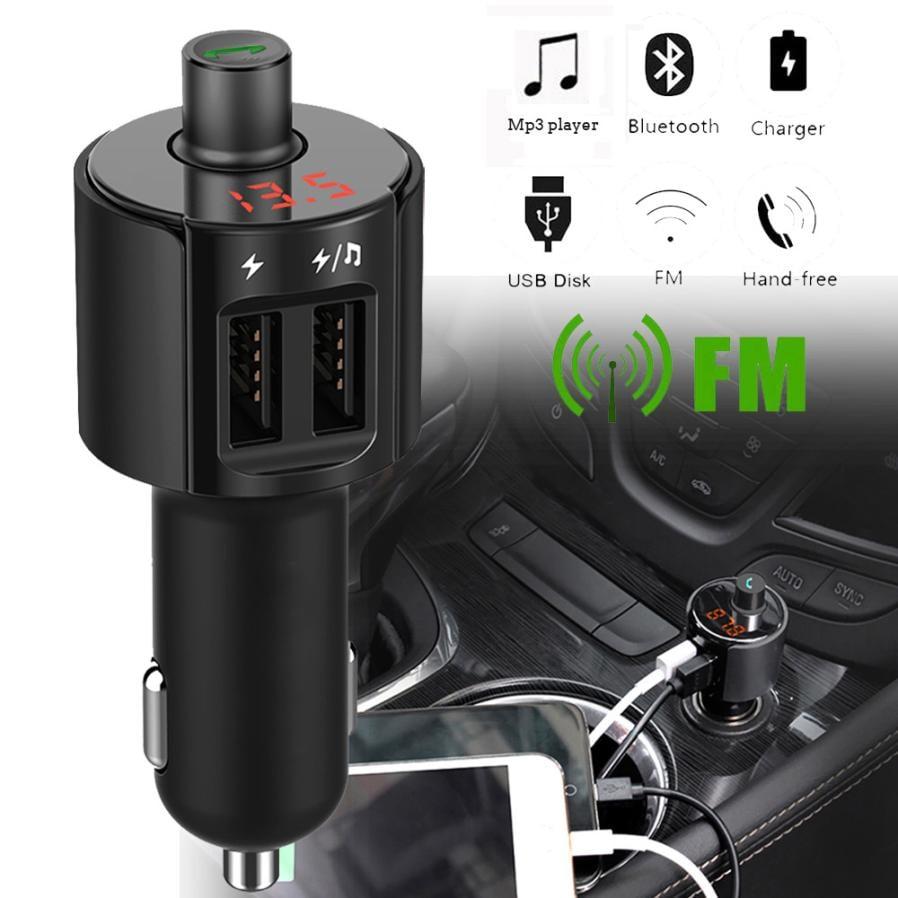משדר FM-דגם HY82 המקצועי לרכב עם בלוטוס+דיבורית+הטענת ניידים