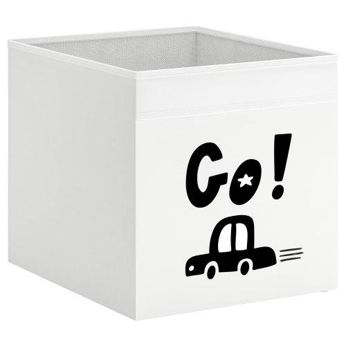 קופסת אחסון לכוורת עם הדפס- מכונית