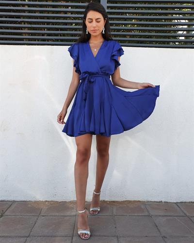 שמלת אגם - כחול פטרול
