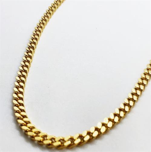 שרשרת פנצ'ר מרובע זהב