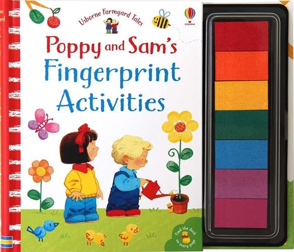 יצירה בטביעות אצבעות - פופי וסאם